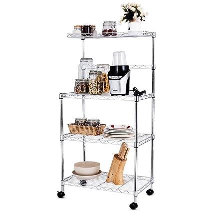 Amazon.com: N-Bright Bakers - Estantería de almacenamiento ...