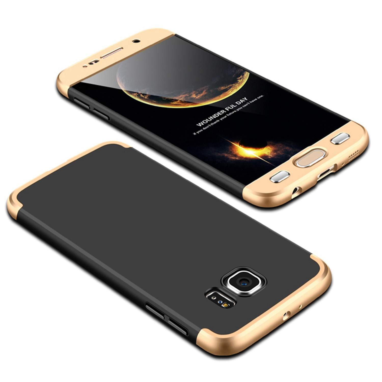 Coque pour Samsung Galaxy S7 PC Dur Rigide Bumper Case, Misstars 3 en 1 Étui Hybride 360 Degrés Intégrale Protection Matte Ultra Fine Mince Avant Arrière Anti Choc pour Samsung Galaxy S7 - Noir et Argent