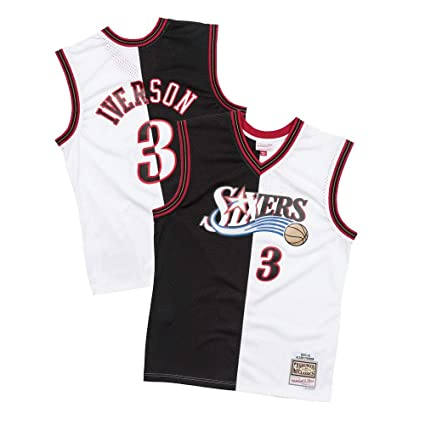 newest 040be b3076 Amazon.com : Mitchell & Ness Allen Iverson Philadelphia ...