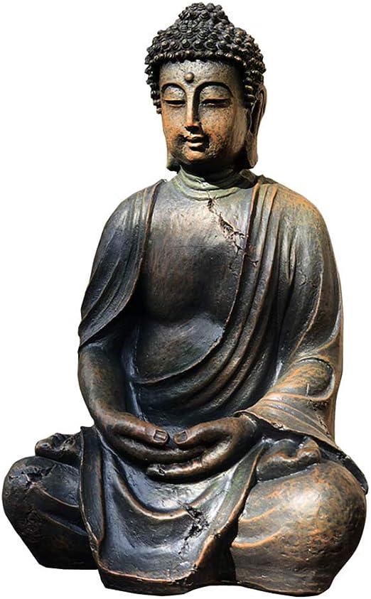 SDBRKYH Escultura de Buda de jardín, Artesanía Decoración de jardín Estatua de Buda Escultura al Aire Libre Decoración de jardín Decoración de Buda de época 20 * 24 * 38 cm: Amazon.es: Hogar
