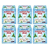 6 x Christmas Time Colouring Mugs - Colour Your Own Arts & Crafts