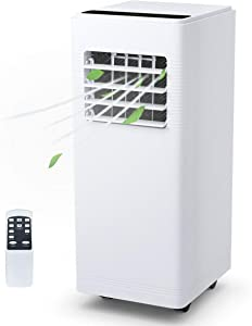 COSTWAY 12000 BTU Portable Air Conditioner with Remote Control Dehumidifier Function Window Wall Mount