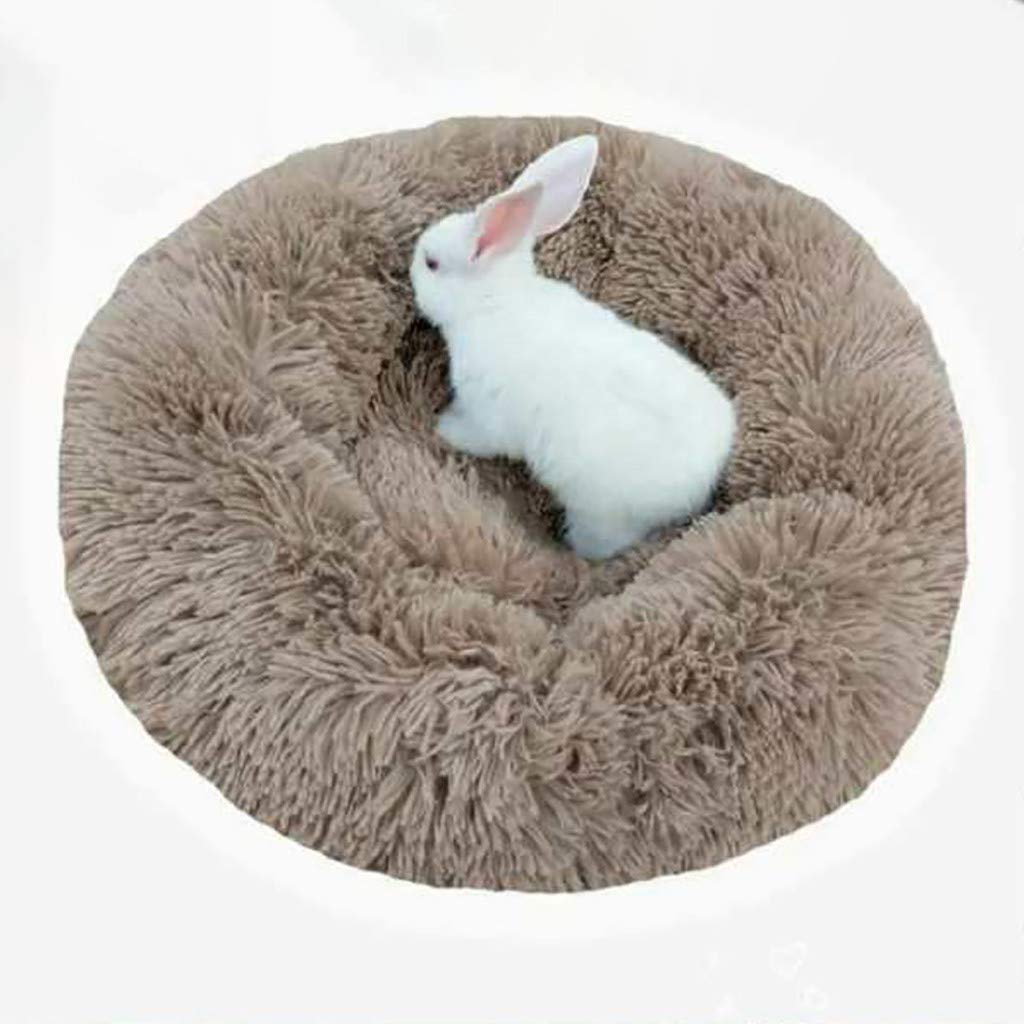 Ankola Plush Donut Cuddler for Pet Round Fluffy Self-Warming Calming Cushion Bed for Dog Cat