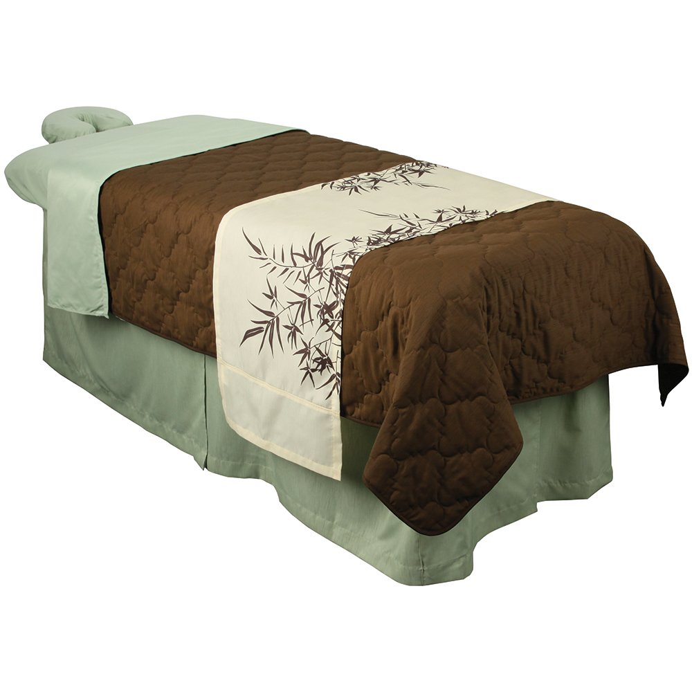 For Pro Premium Table Skirt Sage Massage Linen TNG Worldwide