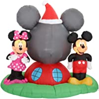 Gemmy 6.5-ft Mickey & Minnie Airblown Panoramic Projection Inflatable
