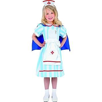 Traje de enfermera para niñas vestido: Amazon.es: Juguetes y ...