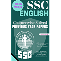 SSC English - 11000+ MCQ from Previous year papers: CGL/CHSL/LDC GD/MTS/CPO Others