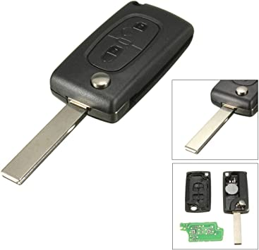 Amazon.com: katur 3 Button Remote Flip Key Fob Shell caso ...