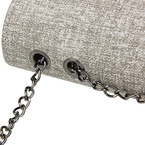 Light Demiawaking New Shoulder Bag Bag Chain Crossbody PU Handbag Mini Gray Fashion Women Leather w71pwCq