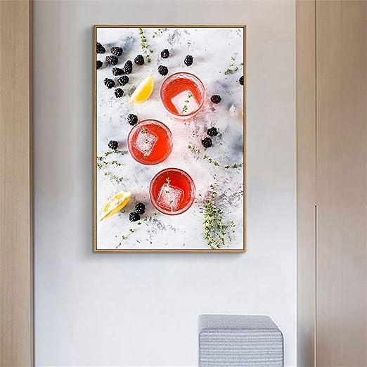 tzxdbh Estilo nórdico Restaurante Obra de Arte Donuts Comida Carteles e Impresiones Imagen Arte de la Pared Lienzos para la decoración de la Cocina: Amazon.es: Hogar