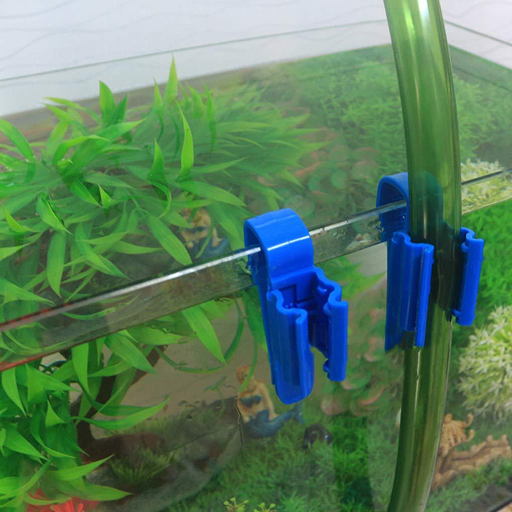 PRENKIN Tubo de Agua 2pcs Abrazadera de Tubo de pl/ástico de m/últiples Funciones del Tanque de Peces Ajustable Clip de Montaje Soporte de Manguera
