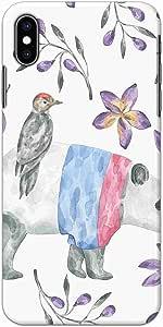 Okteq thin slim fit case forApple Iphone XS Max - cute bird by Okteq