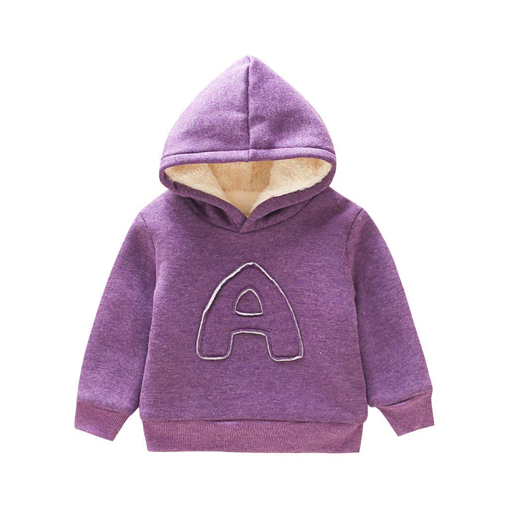 KASSD Toddler Baby Boy Girl Clothes Hooded Sweatshirts Letter Blouse Hoodies Tops Casual