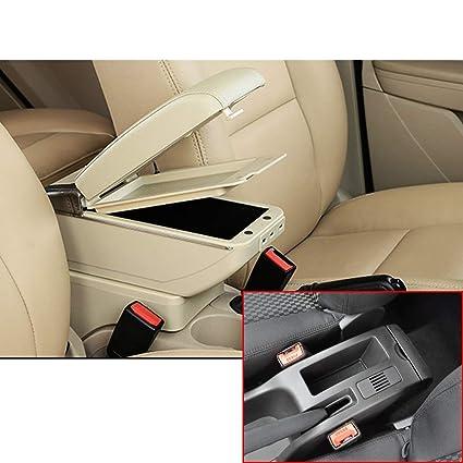 PU Leather Car Special Car Armrest Box Cover Handrail Box Armrest Car Central Armrest Box Cover Black line