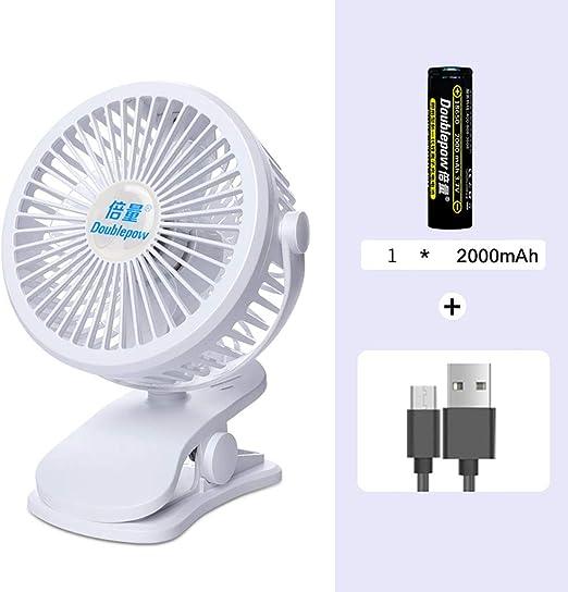 Mini Fan Clip Fan 2000mah Funciona con Pilas USB Ventilador De ...
