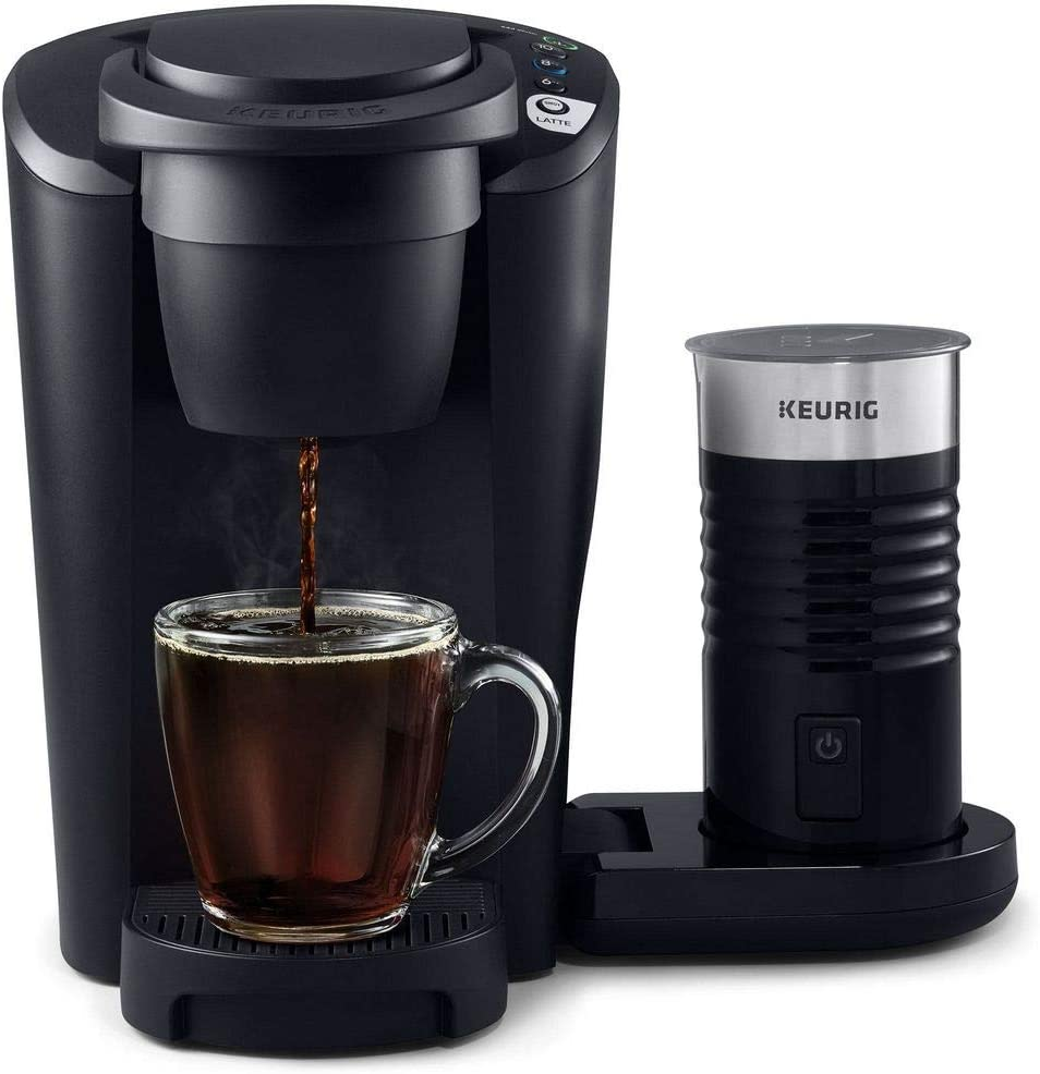 Keurig K-Latte Single Serve K-Cup Coffee and Latte Maker, Comes with Milk Frother, Compatible With all Keurig K-Cup Pods, Matte Black