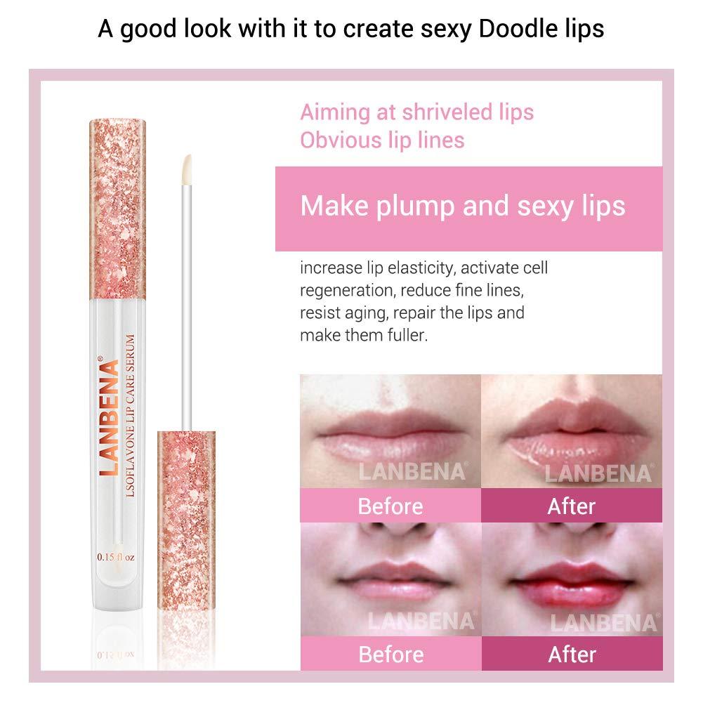 Fanmin LANBENA Lips Care Serum,Moisturizing and Plumping Lips Creating Sexy Doodle Lips, Reduce Fine Lines,Beauty Lipstick by Fanmin (Image #7)