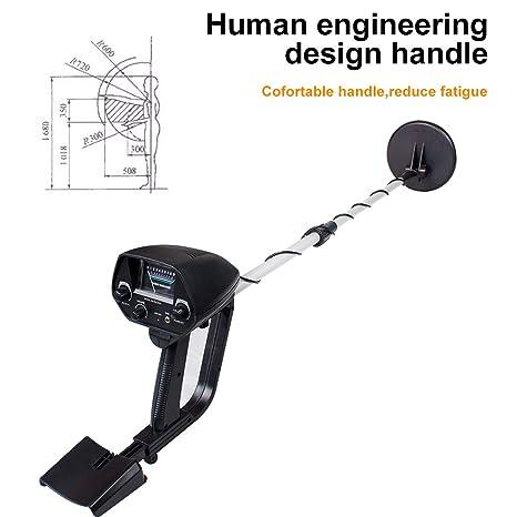Detector de metales subterráneo profesional de 6.5 pulgadas Detectores de oro ajustables Detector de circuitos de