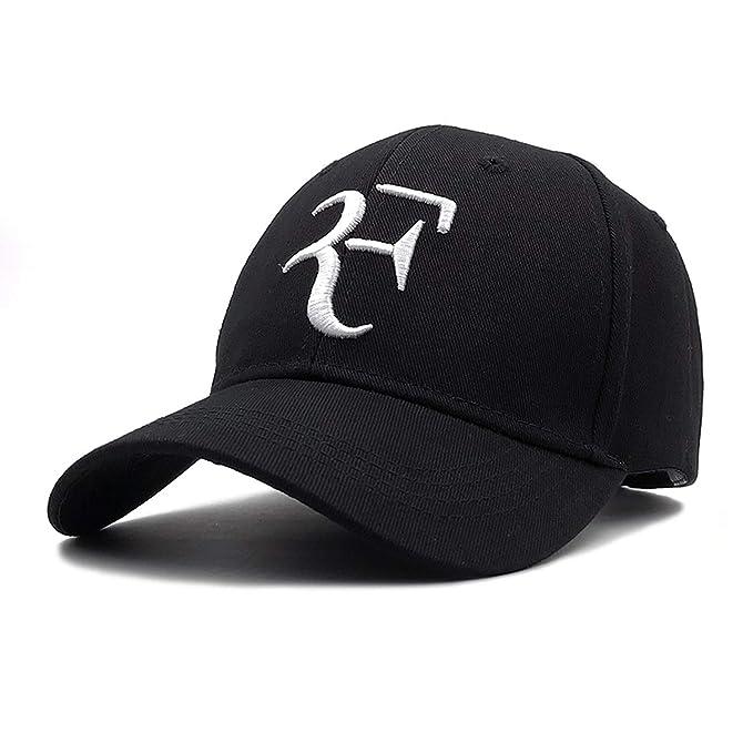37a9ac0990a Amazon.com  MingDe Sports Dad Hat Sport Baseball Cap Cotton 3D Embroidery  Unisex Snapback Caps Tennis Hat F Hats Sunhat Black  Clothing