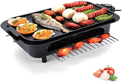 Electric Table Top Grill BBQ Barbecue Garden Camping cooking 1500W Indoor or out