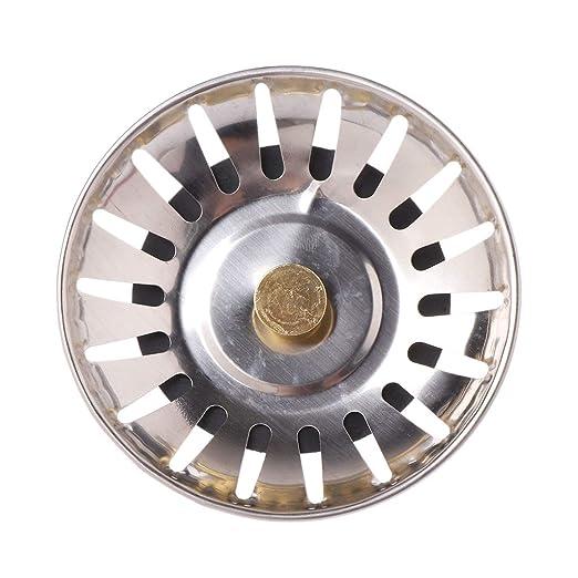 Filtro de desagüe compatible con fregadero de cocina de acero inoxidable