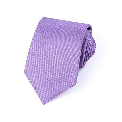HIOD Corbate Traje de Negocios de Color SóLido con Corbata de Seda ...