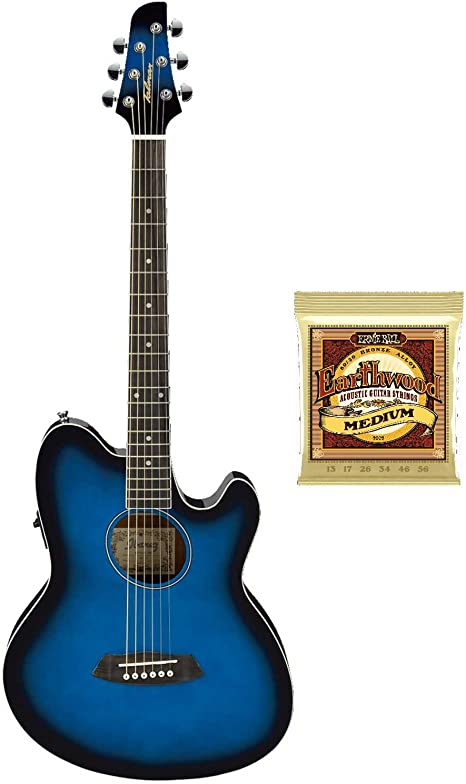 Ibanez TCY10E Talman - Guitarra acústica y eléctrica (incluye ...