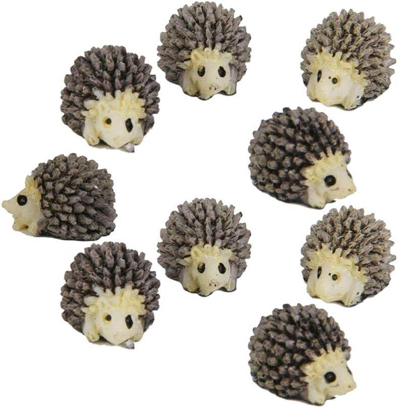 Adarl 6pcs Cute Miniature Hedgehog Landscape Bonsai Garden Home Decor Figurine Ornament