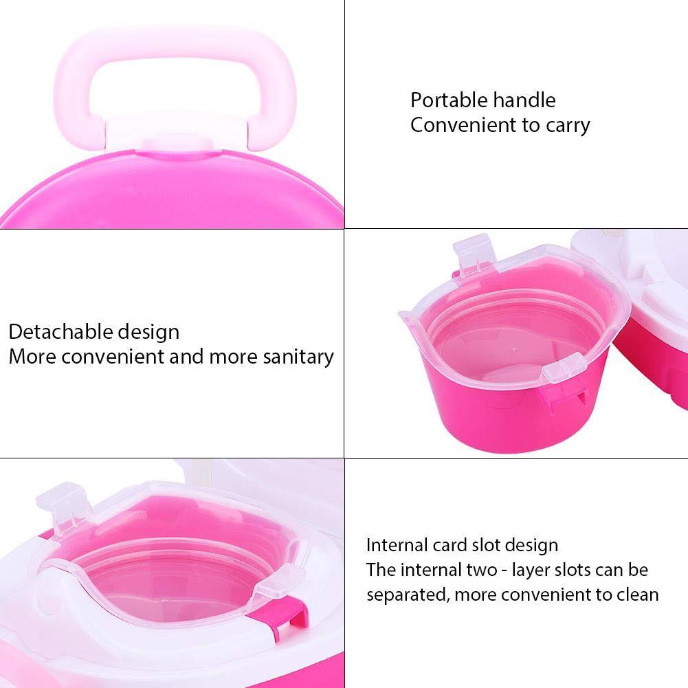 Amarillo Kids Small Portable Toilet Baby Travel Port/átil Reutilizable Carry Seat Potty Baby Training Bedpan