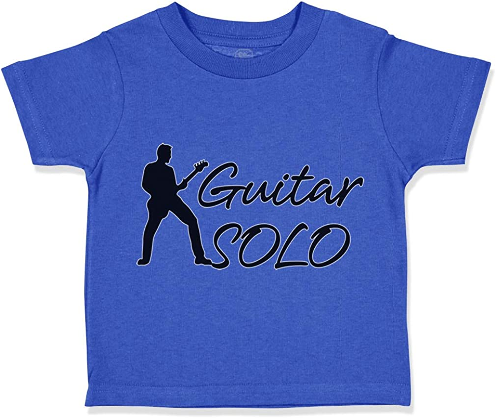 Custom Toddler T-Shirt Guitar Solo Cotton Boy /& Girl Clothes Funny Graphic Tee