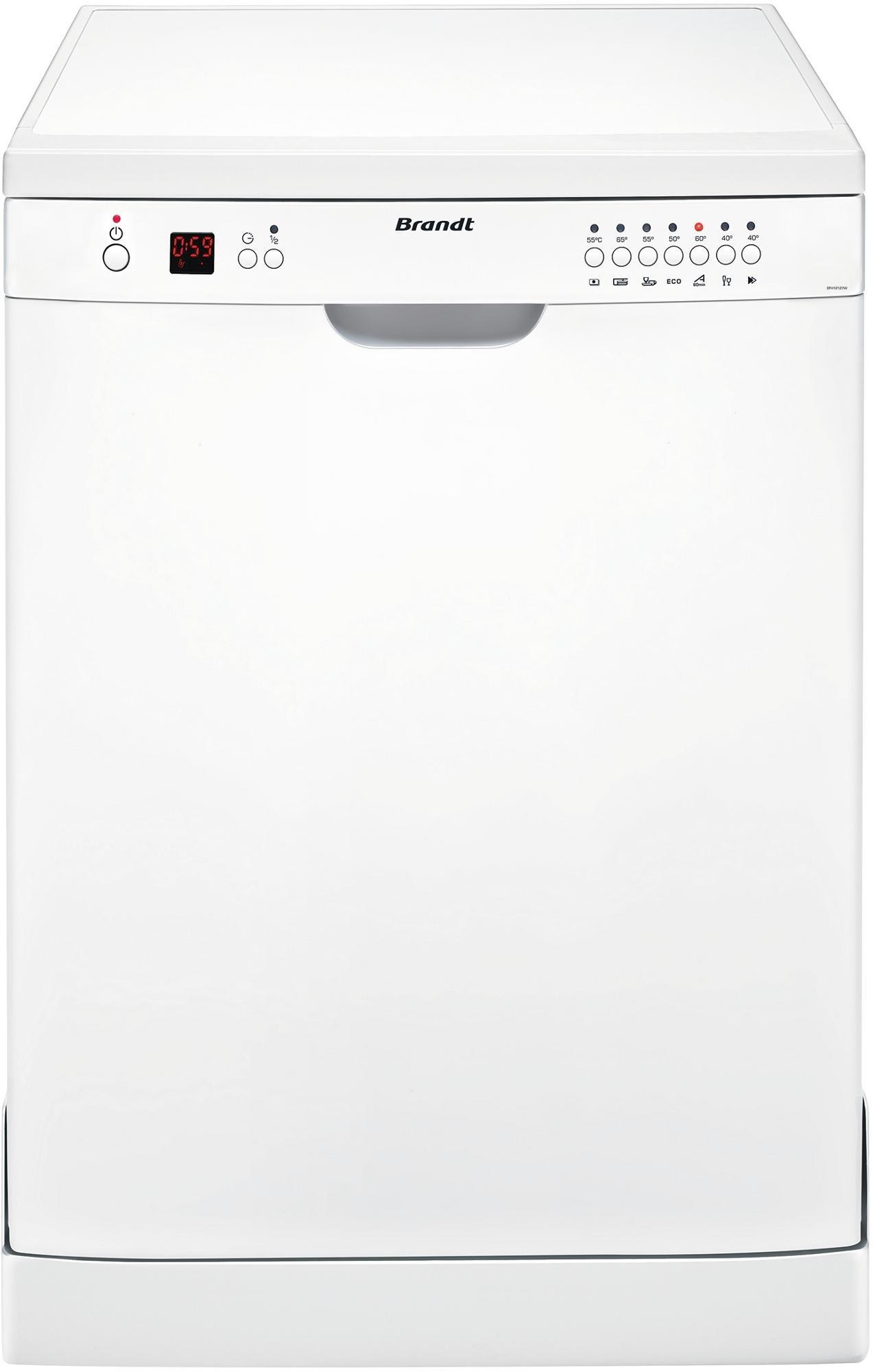 Brandt DFH12127W Autonome 12places A+ lave-vaisselle - Lave-vaisselles (Autonome, Blanc, Blanc, boutons, 24 cm, 30 cm) product image
