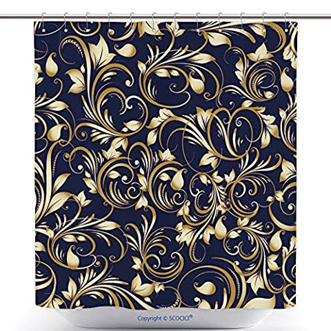 Funky Shower Curtains Paisley Floral Vector Seamless Pattern Background Wallpaper Illustration With Vintage Gold D 501594982 Polyester Bathroom Shower Curtain Set With - Madison Florals Wallpaper