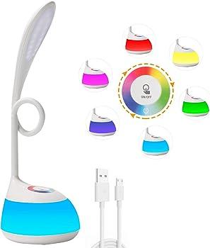 Decorus Small Desk LED Cute Night Light with USB Charging Port