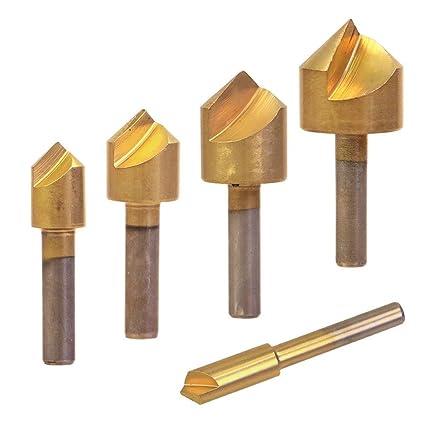 HCS Hex Shank 10mm 13mm Countersink Drill Bit Chamfering 7 Flute End Mill Cutter