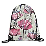 Sports Backpack Colorful Tulips Travel Bags Pouch for Party Favors