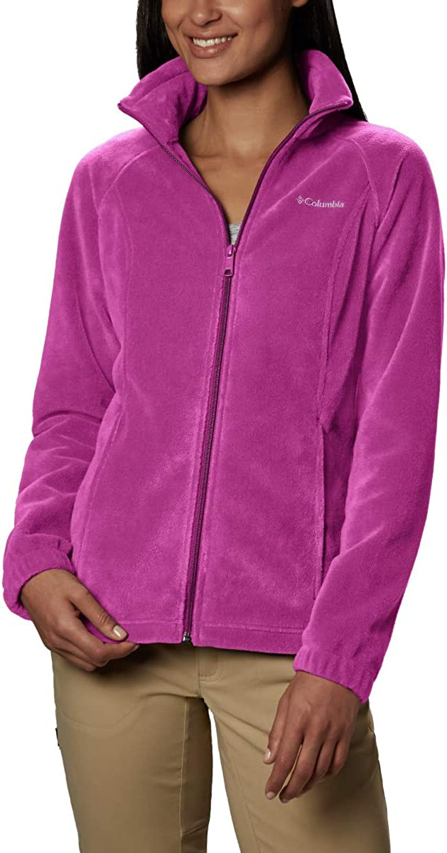 TALLA XS. Columbia Benton Springs Classic Fit Full Zip Soft Fleece Jacket Forro Polar para Mujer