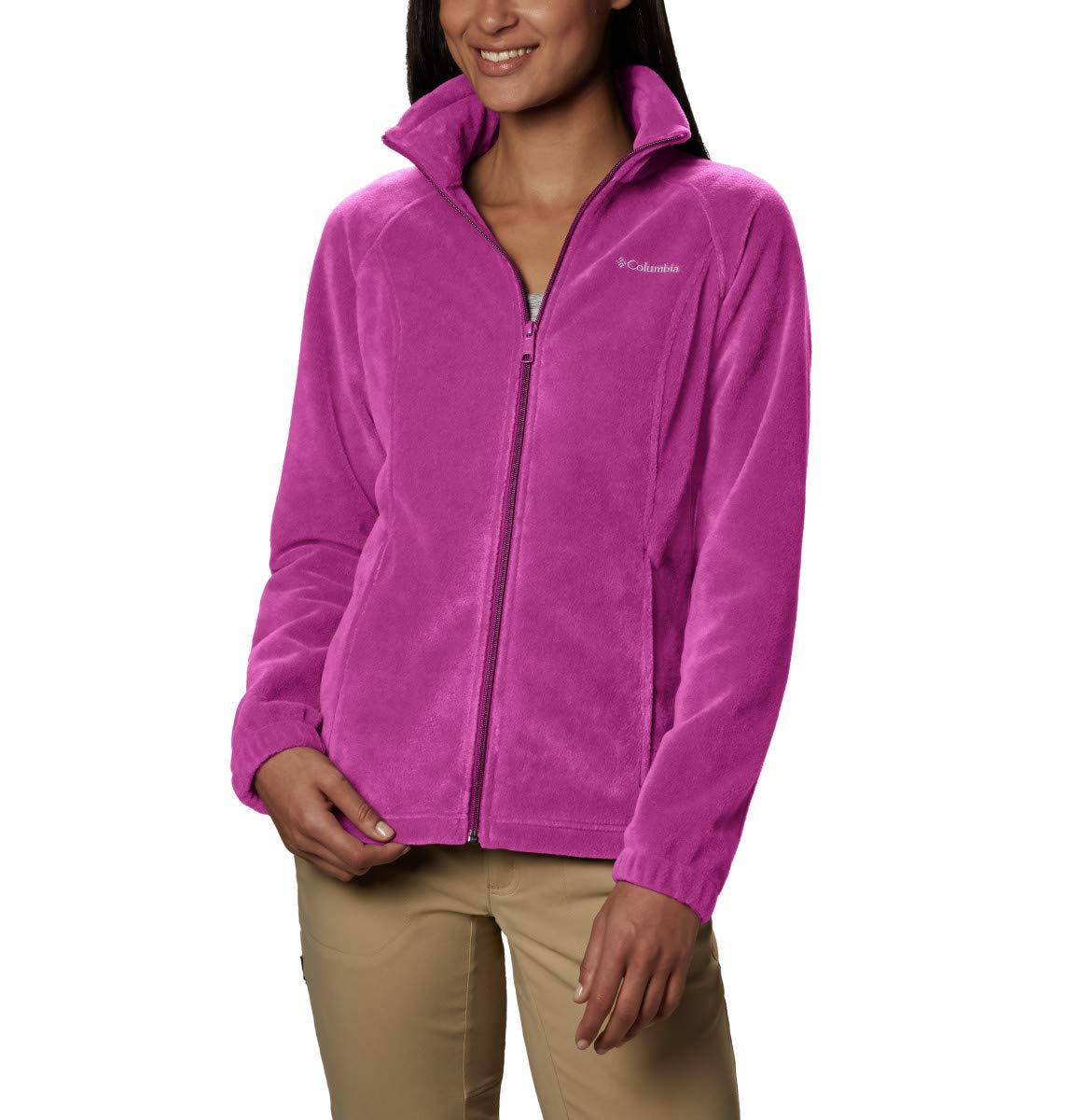 Columbia Women's Benton Springs Full Zip Jacket, Soft Fleece with Classic Fit, Fuchsia, Medium by Columbia