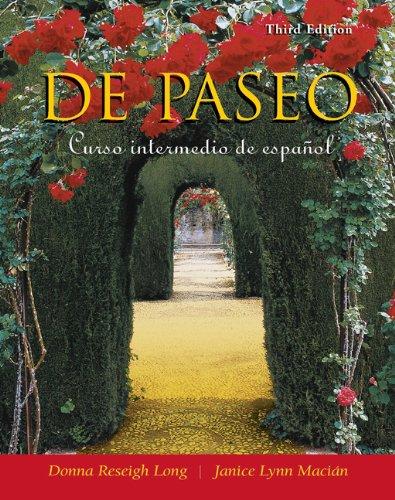 Download De paseo: Curso intermedio de espanol Pdf