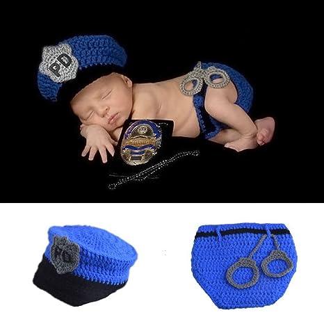 HAPPY ELEMENTS Bebé recién nacido hecha a mano del policía ...