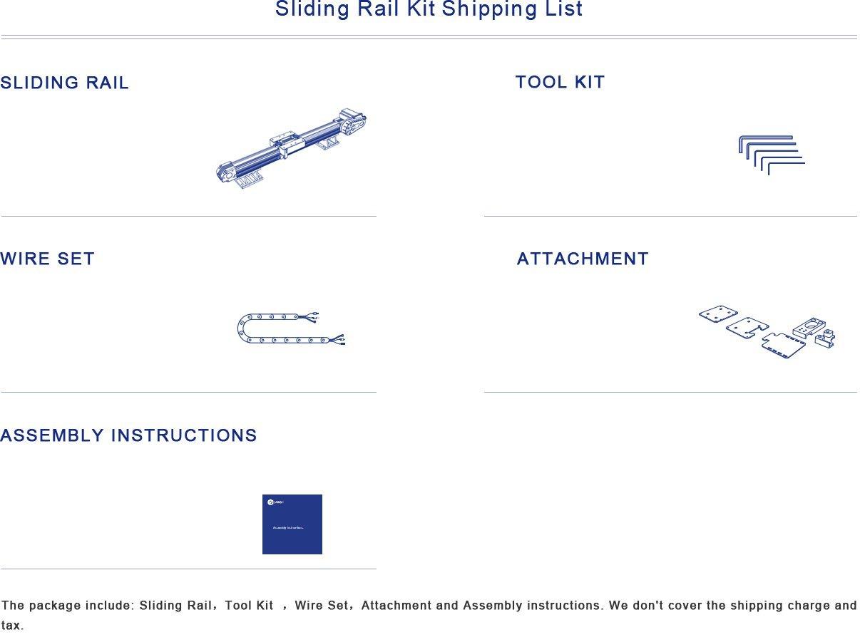DOBOT Sliding Rail Kit for Robotic Arm - Accessories for