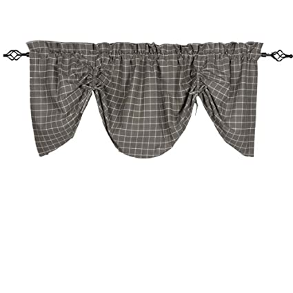 Home Collections by Raghu 72x36 Summerville Pewter Gathered Valance