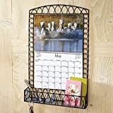 Black Wire Metal Calendar Holder - Fits wall calendars 12''W x 9''H (open 12'' x 18''H), all Current Wall Calendars, Not for 12'' x 12'' closed