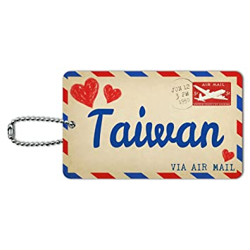 Amazon.com: Correo aéreo postal Amor para Taiwán tarjeta de ...