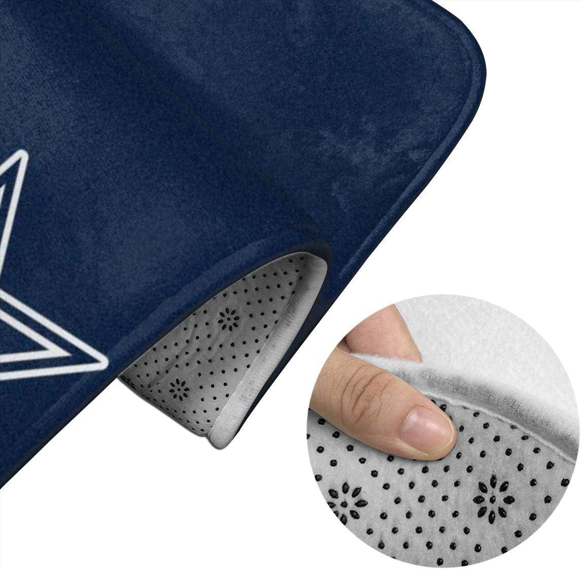 Shower 23.6 X 15.7 U-Shaped Toilet Pedestal Rug- Dallas Cowboys Art Print Flannel Bath Mat Washable Non Slip for Tub Yy10 Bathroom Rug Set 2 Piece