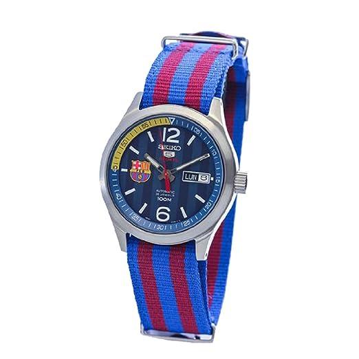 Seiko Deporte Militar Correa azul y rojo, el FC Barcelona Reloj SRP303J1 (Made in
