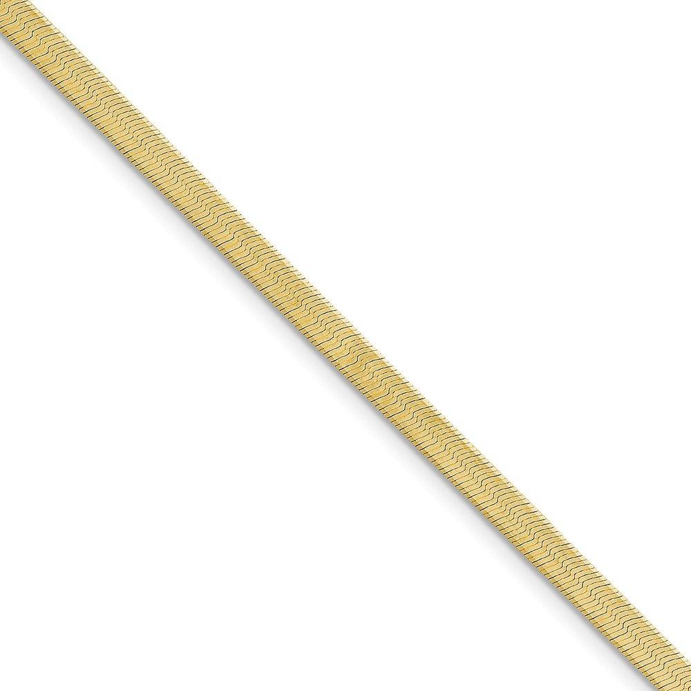 Top 10 Jewelry Gift 10k 4.0mm Silky Herringbone Chain