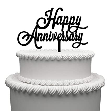 Amazoncom Happy Anniversary Cake Topper Acrylic Wedding Cake
