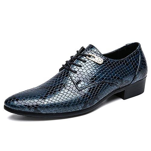 Zapatos de Vestir para Hombre Zapatos de Punto clásicos con Punta de Dedo del pie para Hombres Zapatos de Fiesta de Negocios de Moda