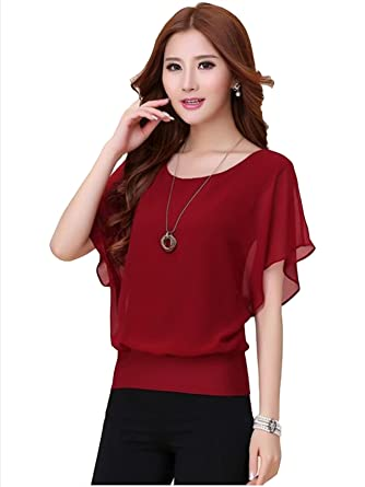 e960aead Chimpaaanzee Women Bat Sleeves Top Maroon: Amazon.in: Clothing ...