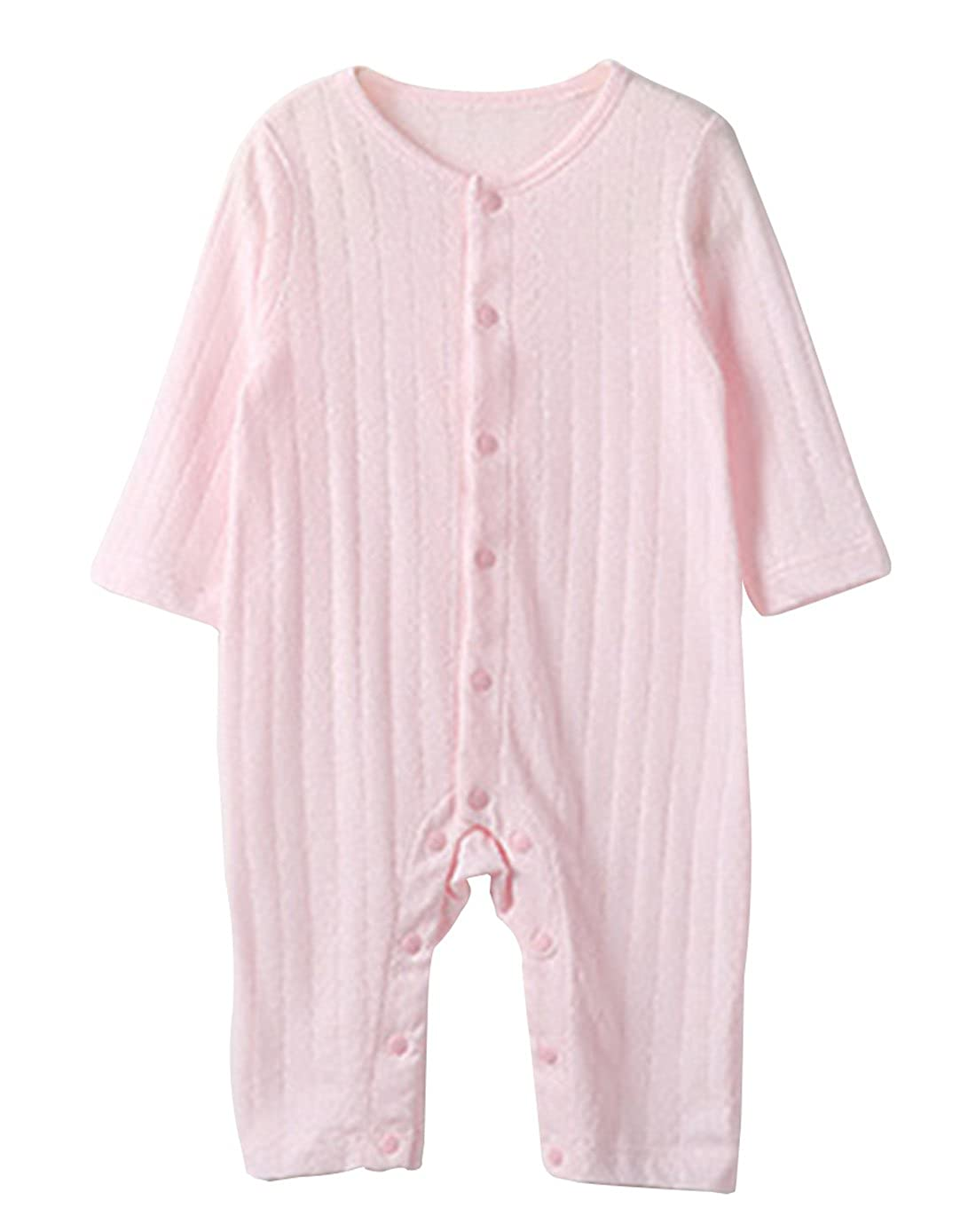 Aivtalk Baby Unisex Solid Romper Long Sleeve 100% Cotton Jumpsuit
